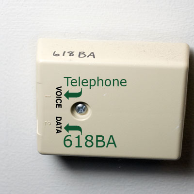 Image of a typical data jack.