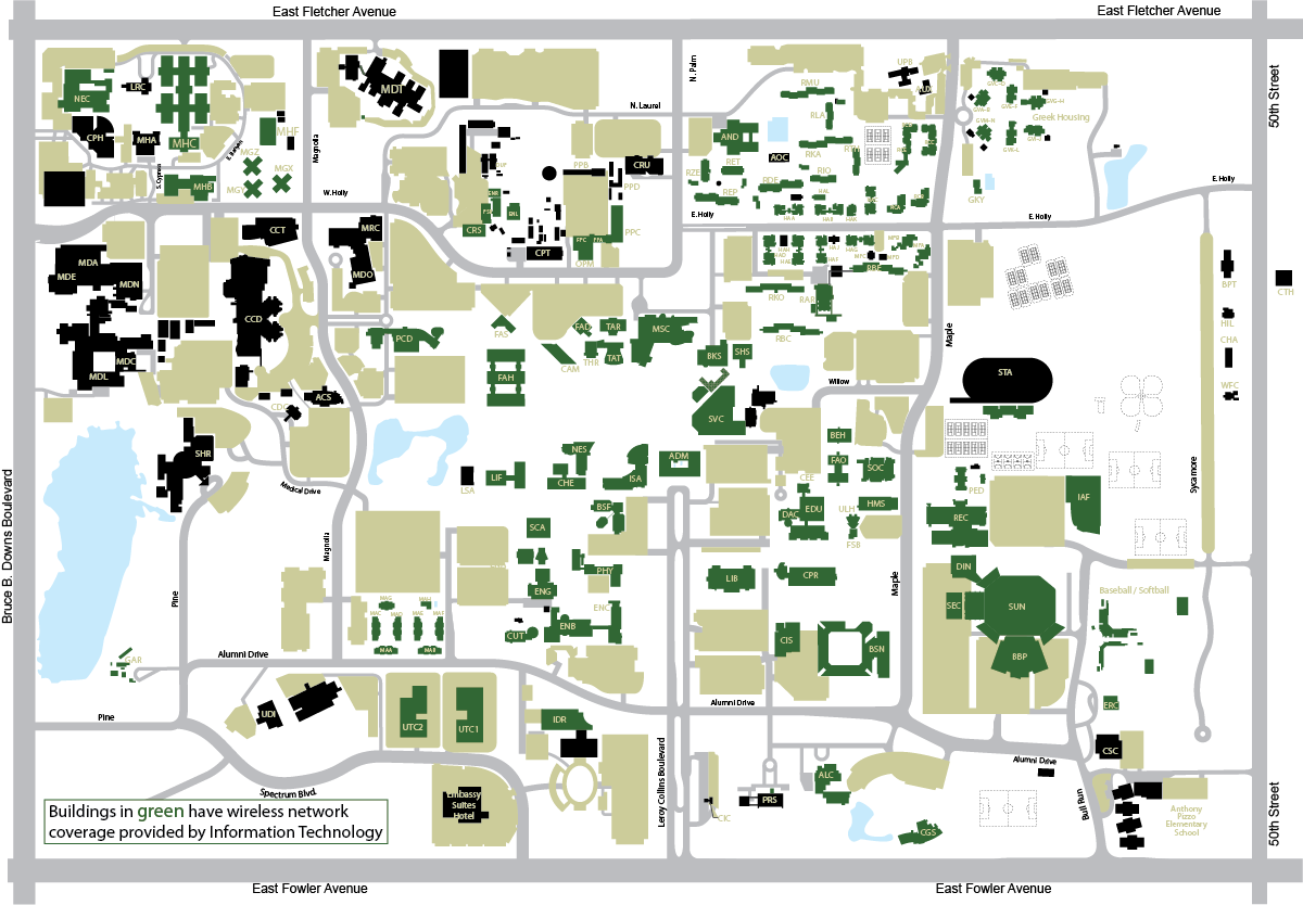 university of south florida campus map Information Technology university of south florida campus map